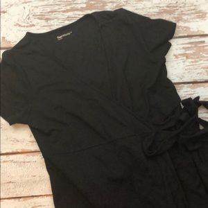 Gap black maternity wrap dress